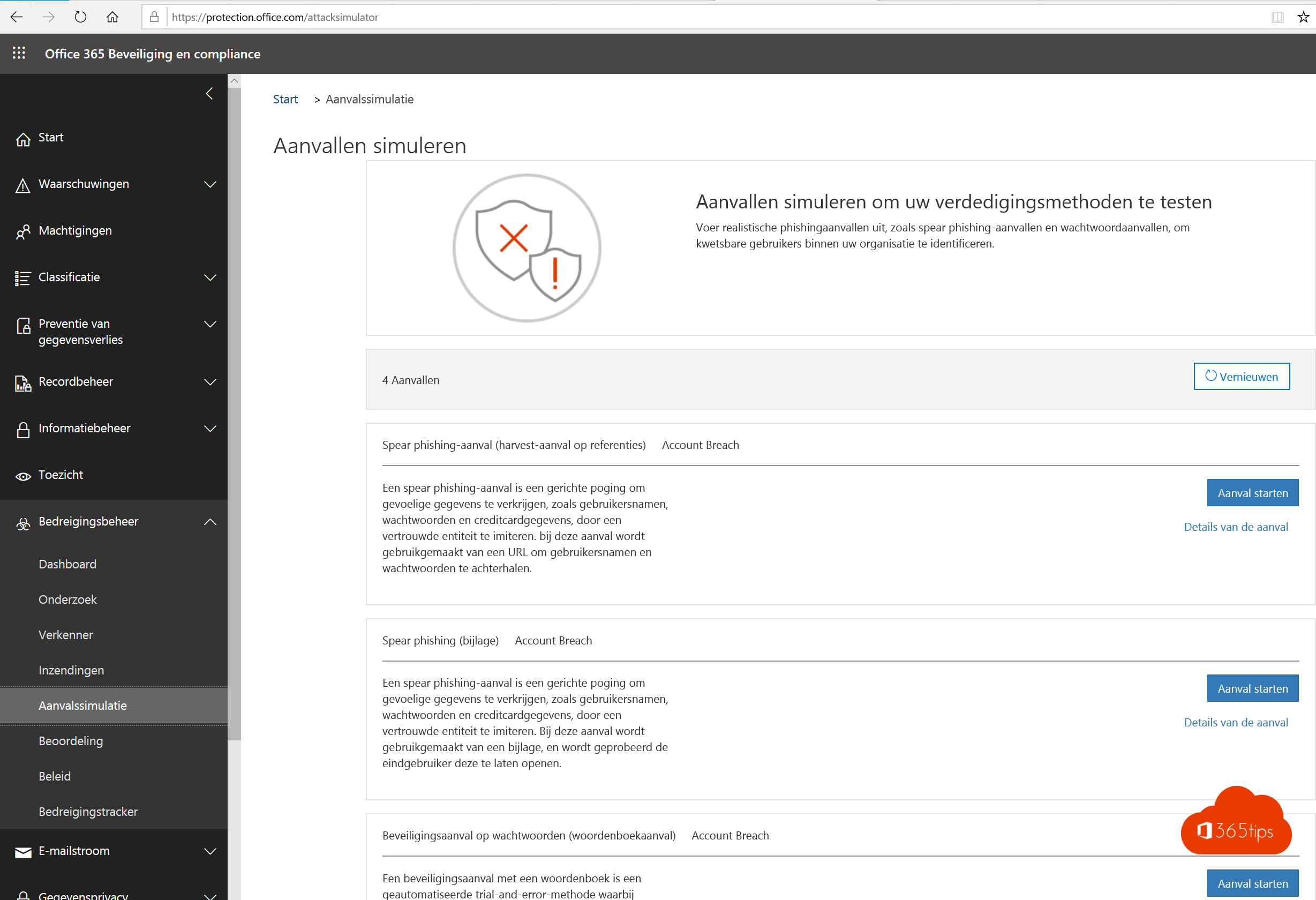 Attack Simulator in Office 365