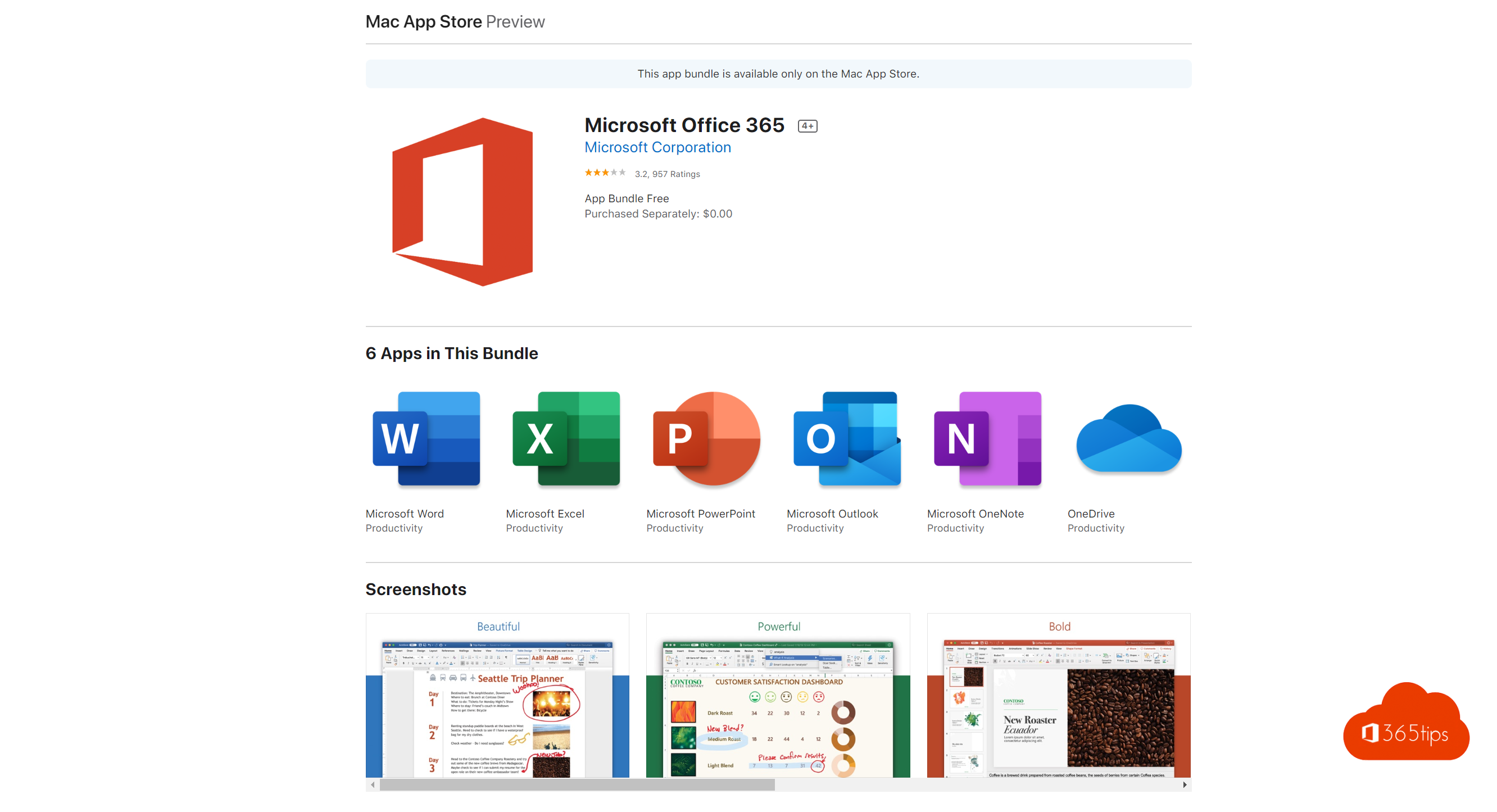 Microsoft Office 365 Preview iOS