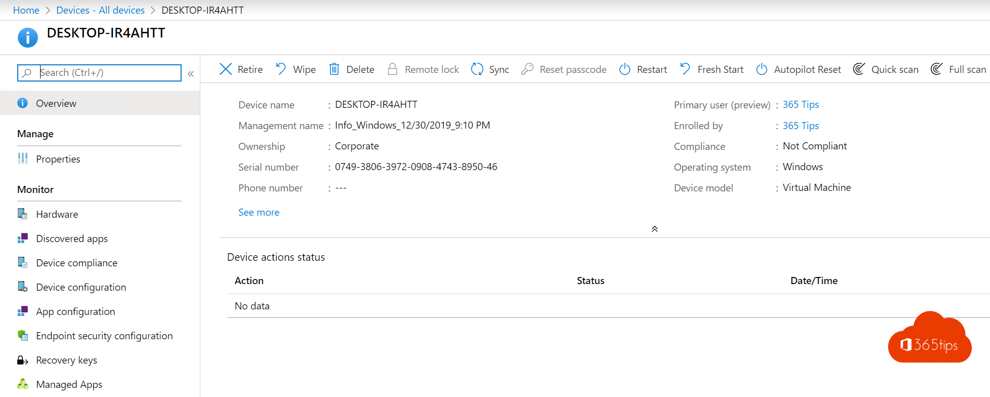 Reset een Windows 10 toestel met Windows Autopilot