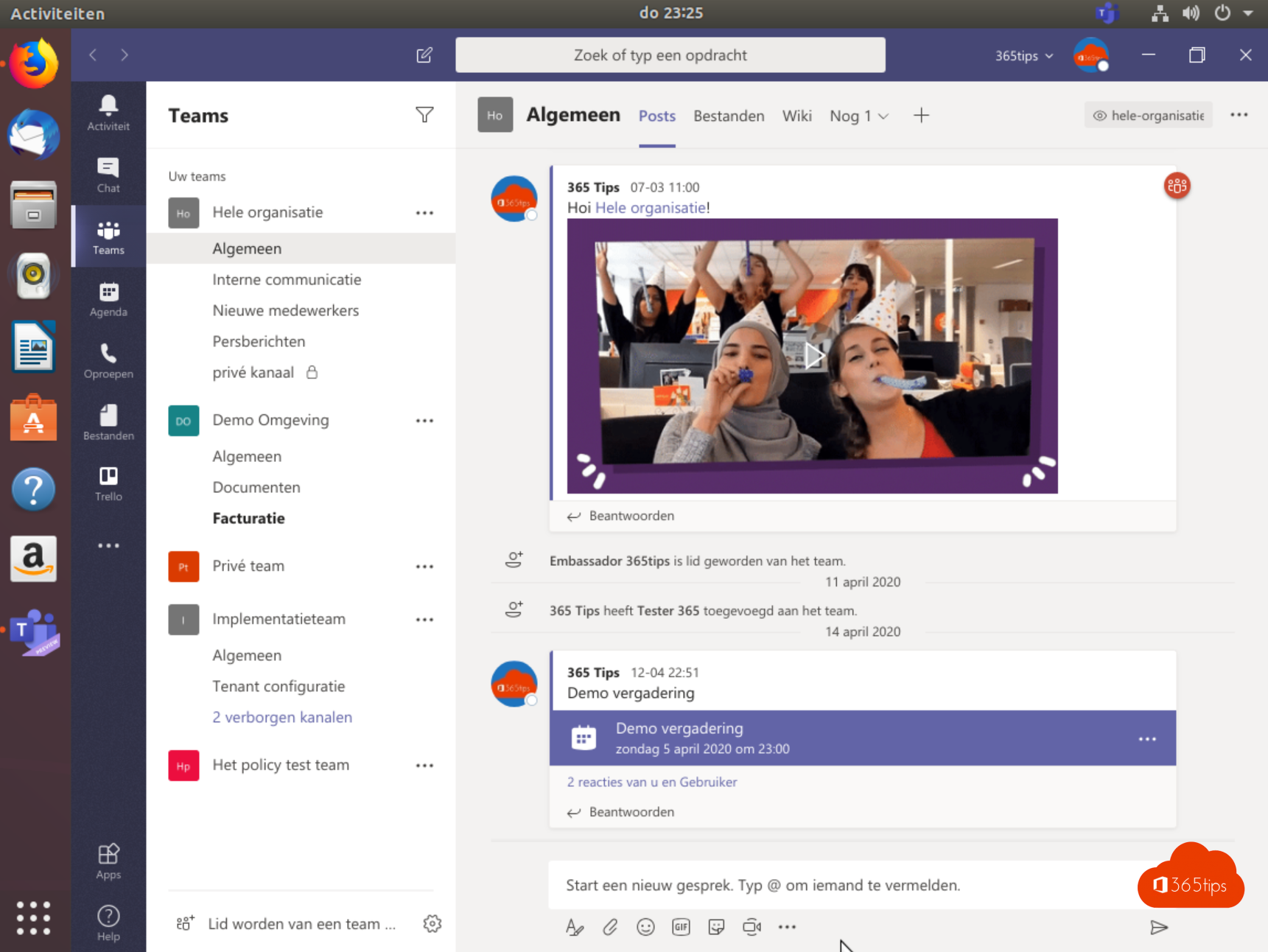 Microsoft Teams installatie in Ubuntu