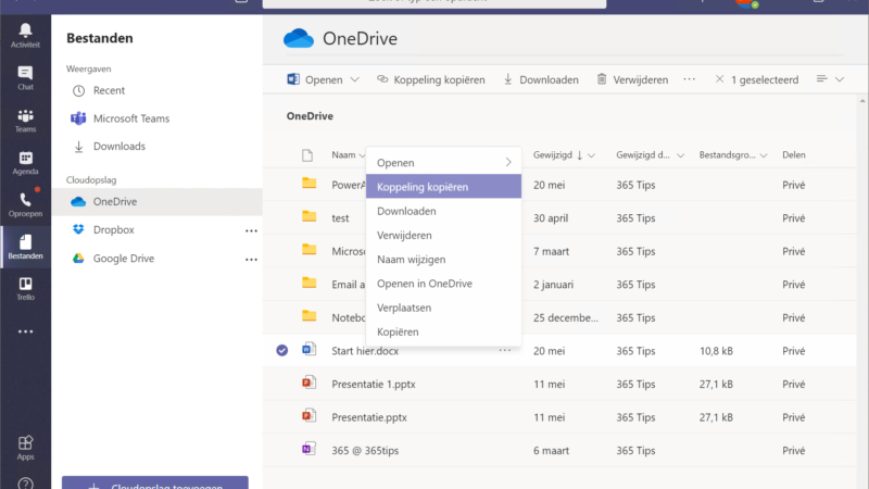 In Microsoft teams documenten delen?