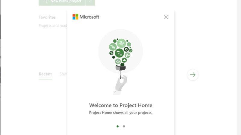 De nieuwe Microsoft Project web applicatie