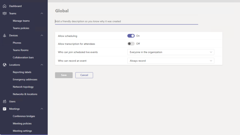 Microsoft Teams Administrator Center – Microsoft 365