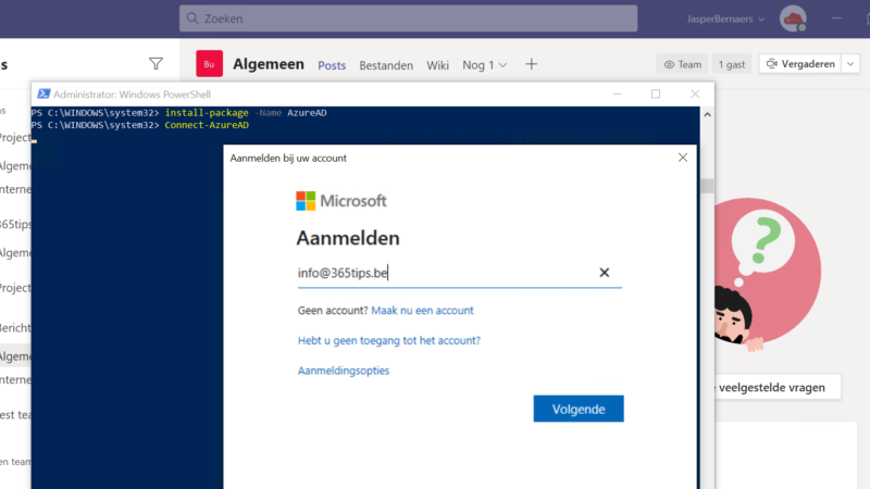 Azure ad preview module installeren met PowerShell