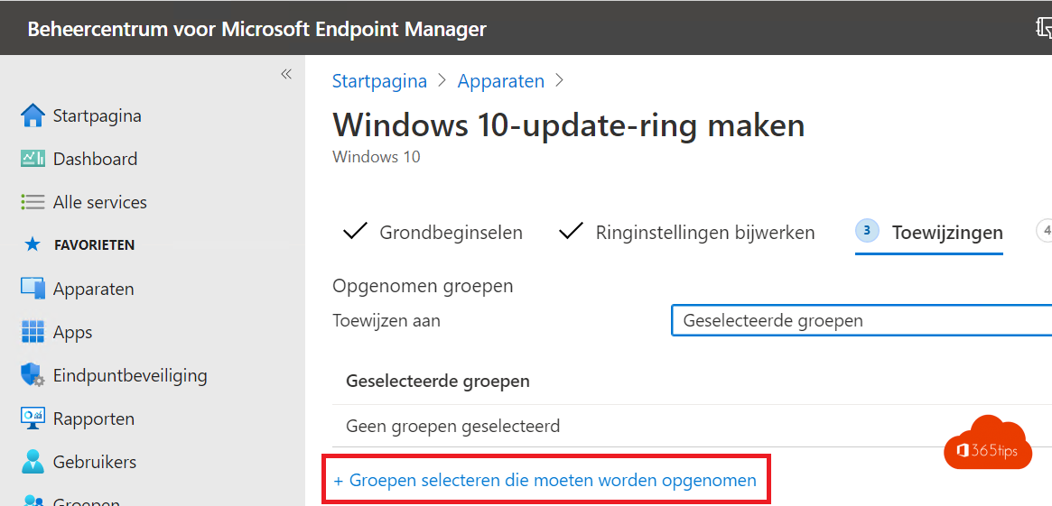 Windows insider ring testen met Microsoft Endpoint manager – Intune