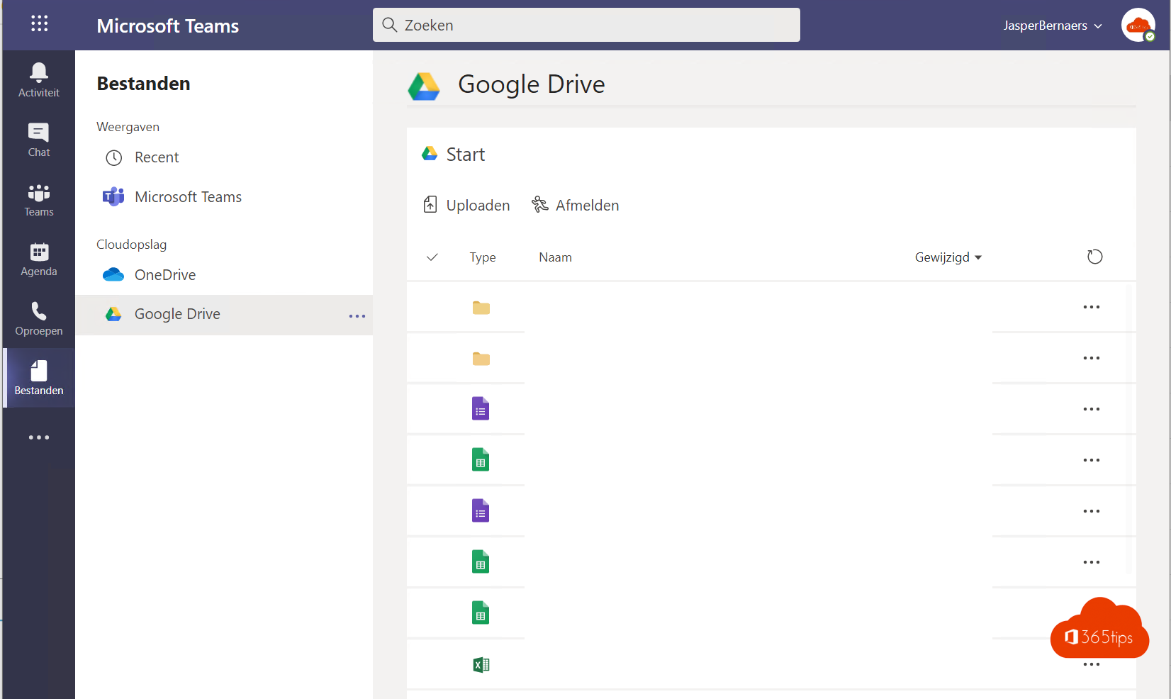 Google Drive of Dropbox bestanden koppelen in Microsoft Teams!