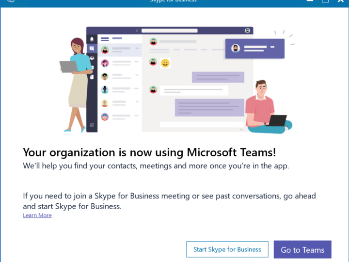 Skype for Business -> Microsoft Teams upgrade – Teams Only