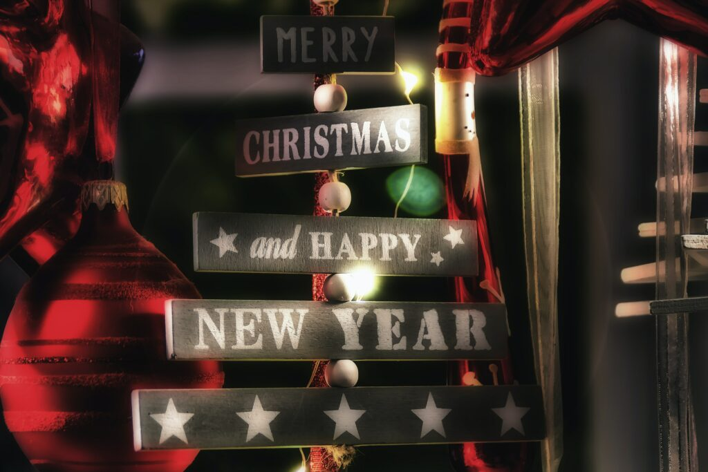 Merry christmas happy newyear wallpaper