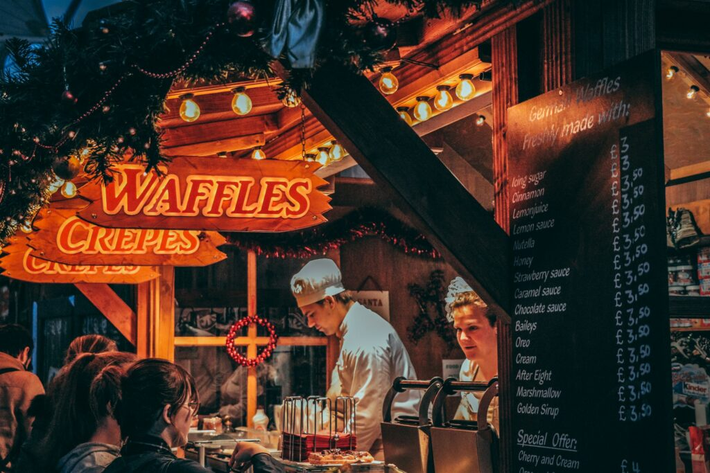 waffles wallpaper kerstmis