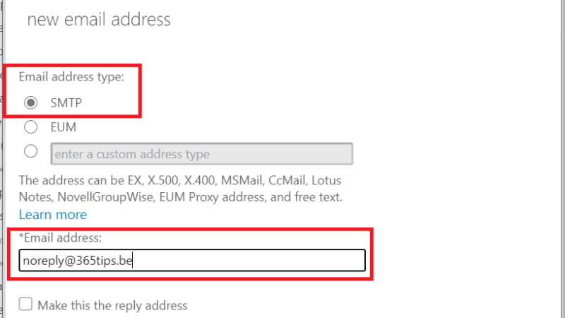 Een e-mail alias toevoegen in Office 365, Exchange of Active-Directory