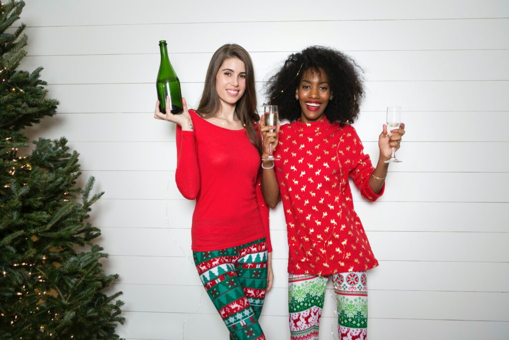 kerst outfit vourwen broek hemd pull troussers