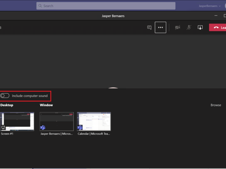 Je scherm delen met computer audio in Microsoft Teams | Windows + Mac