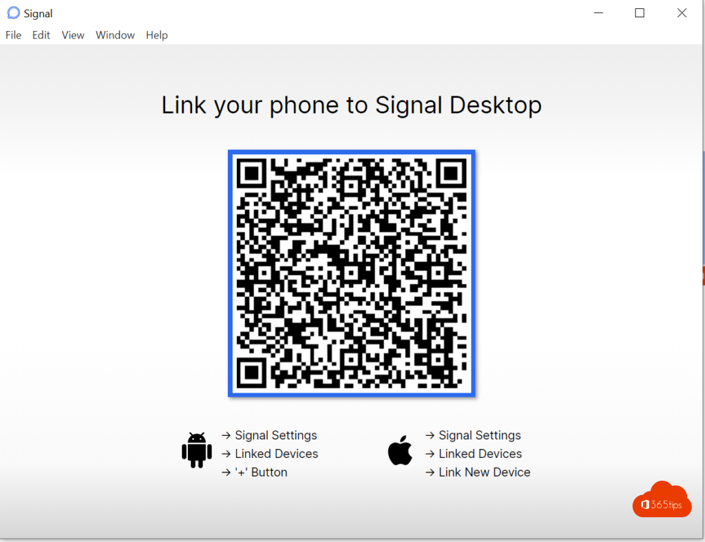 Link your phone to signal desktop
